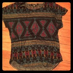 Forever 21 Small Aztec Print Shirt Worn a few times.In great condition! Forever 21 Tops Tees - Short Sleeve