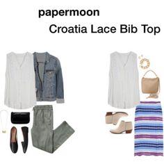 Papermoon Croatia Lace Bib Blouse