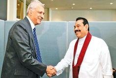 President Mahinda Rajapaksa and Commonwealth Secretary-General Kamalesh Sharma met on the sidelines of the United Nations Climate Summit at the U. Headquarters in New York City on Tuesday. Picture by Sudath Silva United Nations, Commonwealth, Secretary, Sports News, New York City, Tuesday, Presidents, New York, Federal