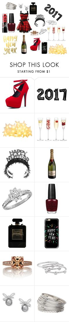 """""""Goth New Year"""" by skullmaster ❤ liked on Polyvore featuring Hell Bunny, LSA International, Tiffany & Co., Maybelline, OPI, Chanel, Casetify, London Road and Miss Selfridge"""