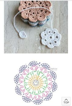 You can create beautiful crochet coasters using your crochet hook! We have shared here are free crochet coaster patterns with all instructions that Crochet Circle Pattern, Crochet Coaster Pattern, Crochet Flower Tutorial, Crochet Flower Patterns, Crochet Stitches Patterns, Crochet Diagram, Crochet Chart, Crochet Motif, Diy Crochet