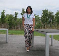 Zara flower trousers