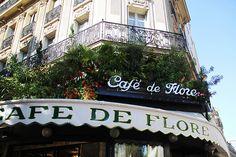 The Café de Flore, at the corner of the Boulevard Saint-Germain and the Rue St. Benoit, in the arrondissement of Paris. Paris 3, Paris Cafe, I Love Paris, Paris France, Cafe Bistro, Shop Till You Drop, Oui Oui, Travel And Leisure, Paris Travel