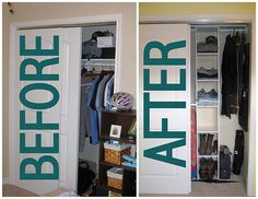 Transform your closet from cluttered to #clutterfree.