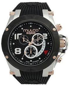 Mulco MW5-2029-025 Chronograph NEW Kripton Collection black band Watch