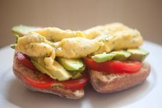 French Herb Omelet with Avocado and Tomato