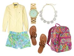 """""""Summer // Day 7"""" by preppy-pearlgirl ❤ liked on Polyvore featuring Polo Ralph Lauren, Tory Burch, Marc by Marc Jacobs, J.Crew and Vera Bradley"""