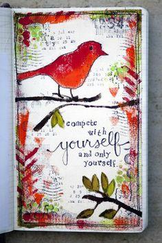 art journeling, inspiratie, vogel