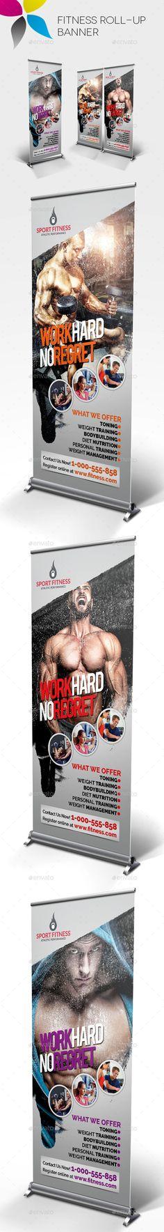 Fitness Roll-Up Banner Template #design Download: http://graphicriver.net/item/fitness-rollup-banner/12252736?ref=ksioks