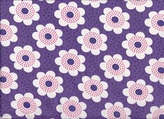 1970s Purple White Daisy Fabric by Pommedejour on Etsy