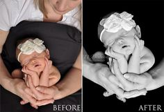 Newborn Negatives – Black Background Newborn Photo Tutorial | 11 Sixteen Photography