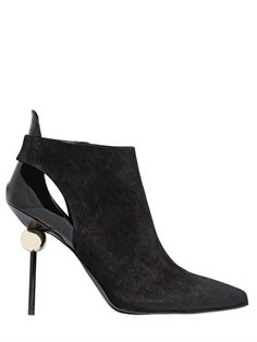 ROGER VIVIER 110MM SPHERE SUEDE ANKLE BOOTS