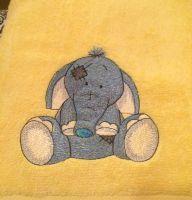 My cute elephant design on towel1