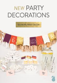 Personalize these fun kids party decorations to match your birthday party theme!