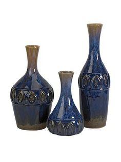 Set of 3 Eurasia Ceramic Vases