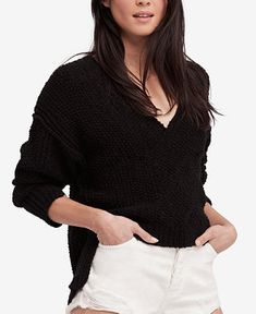 Shop for Juniors Sweaters online at Macys.com. Scrunch up the drop-shoulder sleeves of Free People's all-cotton sweater for a look that's a little bit '80s and so hot right now.
