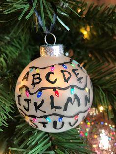 Custom Stranger Things Christmas Ornament - Hand Painted