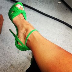 green heels Shoes ♡ Heels