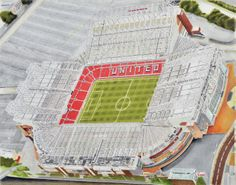 Framed Rotherham United Old Stadium Millmoor Aerial Photo Memorabilia