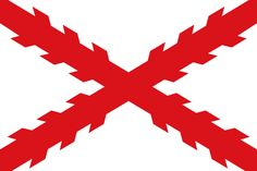Bandera Cruz de Borgoña utilizada por los ejércitos españoles desde 1506