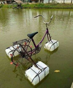 20 brilliant inventions created by creative people (New Pics) Ideas Para Inventos, Pimp Your Bike, Old Bikes, Survival Skills, Funny Photos, Kayaking, Recycling, Cool Stuff, Outdoor