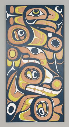 Custom Carved Eagle and Killer Whale Panel Don Yeomans (Haida) | Douglas Reynolds Gallery