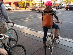 bike and pink helmet :)