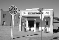 """"""" Magnolia Gas Station """" in Shamrock Texas    """" Route 66 on My Mind """" http://route66jp.info Route 66 blog ; http://2441.blog54.fc2.com https://www.facebook.com/groups/529713950495809/"""