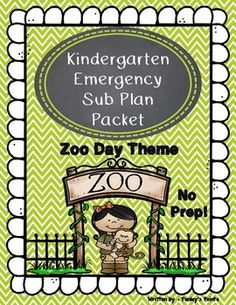 Have a conference, workshop, doctor's appointment, sick child, or are simply too sick to teach? Then, take the day and give your students a day at the zoo! This packet was designed for Kindergarten and early First Grade students with those days in mind.