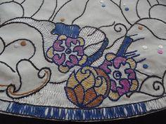 Amazing Swedish Art Nouveau Antique Tablecloth with by Deccorista