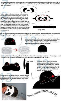 panda sleep mask!!! (TUTORIAL ON PAGE 3) - MISCELLANEOUS TOPICS