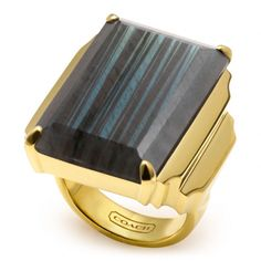 The Deco Cocktail Ring from Coach $595