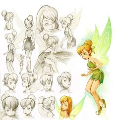 Find images and videos about art, disney and tinkerbell on We Heart It - the app to get lost in what you love. Tinkerbell And Friends, Peter Pan And Tinkerbell, Peter Pan Disney, Disney Fairies, Disney Concept Art, Disney Fan Art, Disney Love, Walt Disney, Draw Disney