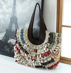 Vivian Ruffled Bag - PDF Pattern - Mother's Day Sale! % Off!