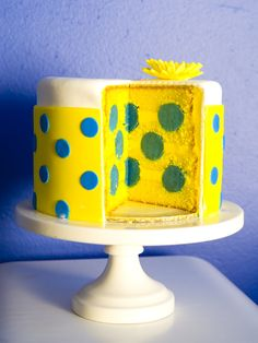 www.SweetCakesbyRebecca.com -polka dot cake  photo:www.truelovephoto.com