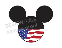 Mickey Mouse American Flag Patriotic design DIY Printable Iron On t shirt Transfer Instant Download 4th fourth of July USA red white and blue