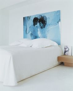 bed, white, art, hea