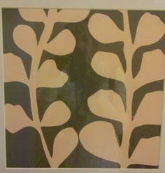 Wallovers Maddie's Matisse Stencil is enlarged here and makes a great piece of framable art!