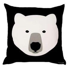 """White Bear Black Bear Cushion - Front"" https://sumally.com/p/732045?object_id=ref%3AkwHNPvaBoXDOAAsrjQ%3A2kpA"