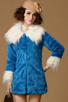 Luxurious Faux Fur Coat OASAP.com