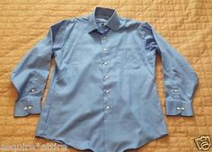 men dress shirt for sale on ebay : GEOFFREY BEENE men dress #shirt 16 - 34/35 wrinkle free blue color spread collar withing our EBAY store at  http://stores.ebay.com/esquirestore