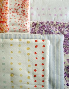 how to make a knotted quilt