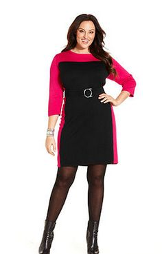 Color Block Sweater Dress by NY Collection