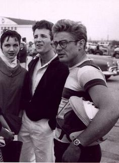Photo of James Dean at the Babara Sportscar  for fans of James Dean.