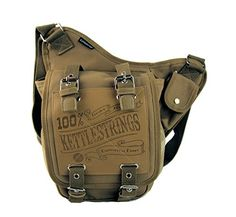 Kettlestrings Unisex messenger bagsatchel medium sized light weight easy day carry with cross body adjustable strap and buckles Tan * To view further, visit the image link. Amazon Affiliate Program's Ads.