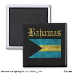 #Bahamas Vintage magnet.#Zazzle