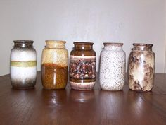 Vintage Model 231-15 Ceramic Vases from Scheurich, Set of 5 for sale at Pamono