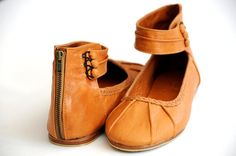MUSE Ballet flats / leather shoes / cuffs / braided by BaliELF, $100.00