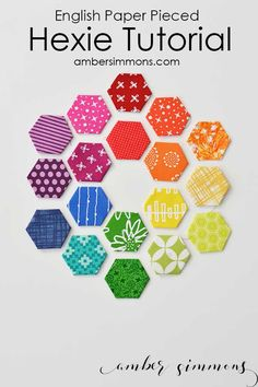 This simple paper pieced hexie tutorial will have you growing your fabric hexagon collection in no time.