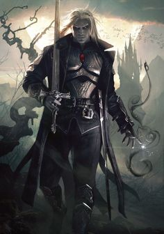 Sorin the Vampire from Magic the Gathering Fantasy Male, Fantasy Warrior, Fantasy Rpg, Dark Fantasy Art, Fantasy Artwork, Elf Warrior, Dark Warrior, Dnd Characters, Fantasy Art